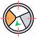 Target Geotargeting Cartography Icon