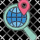 Geoblogging Geocoding Geographical Identification Metadata Icon