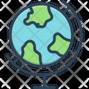 Geographic World Globe Icon