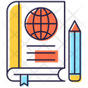 Geography World Book Global Knowledge Icon