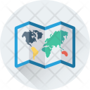 Geography Map Unfolded Icon