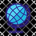 World Contour Globe Icon