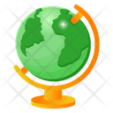Table Globe Geography Country Map Icon