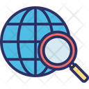 Geolocation Global Communication Global Delivery Icon