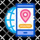 Geolocation Dating App Icon