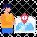 Global Location Geolocation Gps Icon