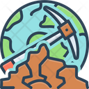 Geological Geologist Landscape Icon