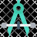 Geometric Compass Icon