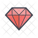 Geometric Diamond Icon