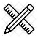 Geometrical Tools Measuring Icon