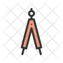 Geometrical Compass Icon