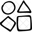 Geometrical Shape Circle Square Icon