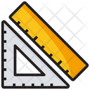 Geometrical Tools Protector Ruler Icon
