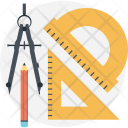 Geometrical Tools Technical Icon