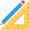 Pencil Ruler Stationery Icon