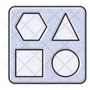 Geometry Shapes Stationary Icon
