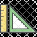 Geometry Ruler Measuring Icon