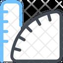 Geometry Ruler Measure Icon
