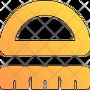 Geometry Protactor Ruler Icon