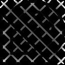 Protractor Degree Square Icon