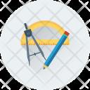 Geometry Compass Pencil Icon
