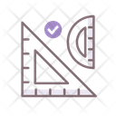 Geometry Ruler Set Icon
