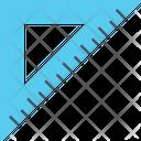 Geometry Tool Isosceles Triangle Measuring Instrument Icon