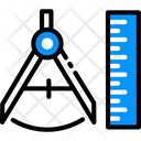 Geometry Scale Ruler Icon