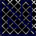 Ruler Tool Triangle Icon