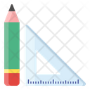 Geometry Tools Protector Ruler Icon