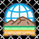 Geomorphology Science Education Icon