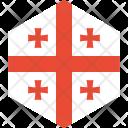 Georgia Flag World Icon