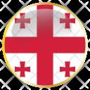 Georgia Flag Country Icon