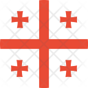 Georgia Flag World Icon