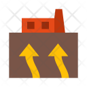 Geothermal Industry Plant Icon