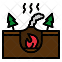 Geothermal Heat Hot Icon
