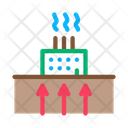 Geothermal Heating Factory Icon