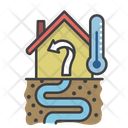 Geothermal House Energy Ecological Icon