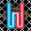 Geothermal Tube Heating Icon