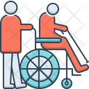 Geriatrics Therapy Wheelchair Icon