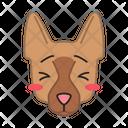 German Shepherd Dog Suffering Icon