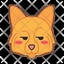 German Spitz Dog Smirking Icon