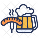 Germany Beer Sausage Icon