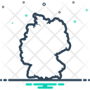 Germany Map Border Icon