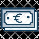 German Euro Paper Money Banknote Icon