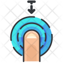 Drag Down Touch Icon