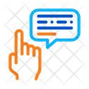 Hand Gesture Pointing Icon
