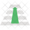 Get On Top Growth Profit Icon