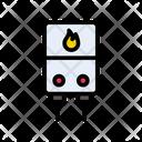 Fire Geyser Hot Icon