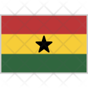 Ghana Flag Country Icon